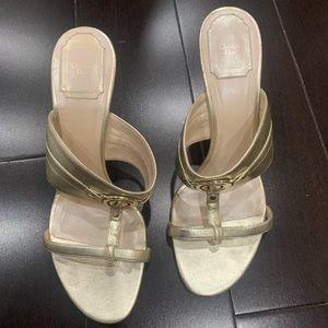 DIOR Gold Heels